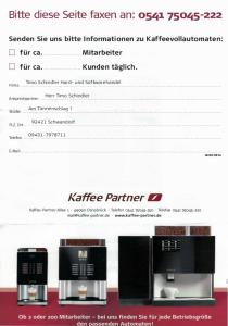 Kaffee Partner unerwünschte Werbung