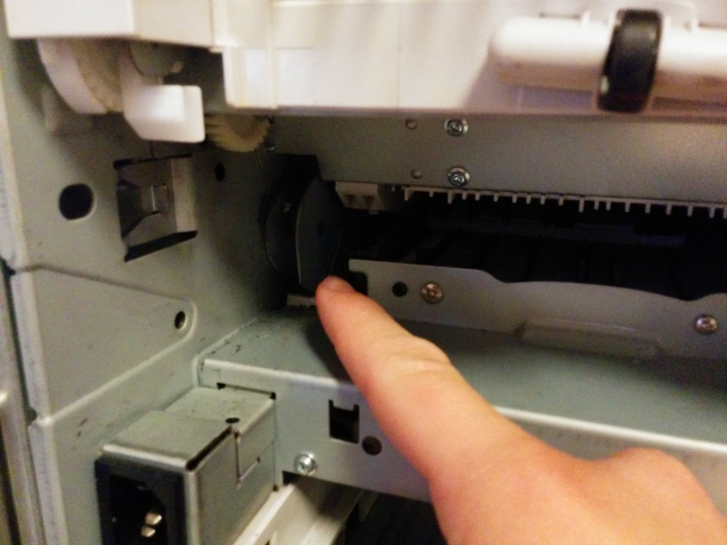 Defektes Zahnrad der swing plate eines HP Laserjet 4300n